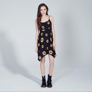 Sunflower Mini Swing Dress